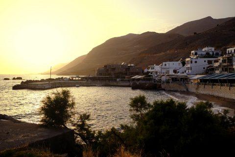 Wandern Sonne Sommer Meer Griechenland Kreta Camping