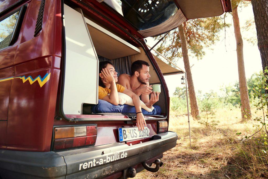 Brandenburg Bulli Camping VW Bus Wilde Heimat Fuerstenberg