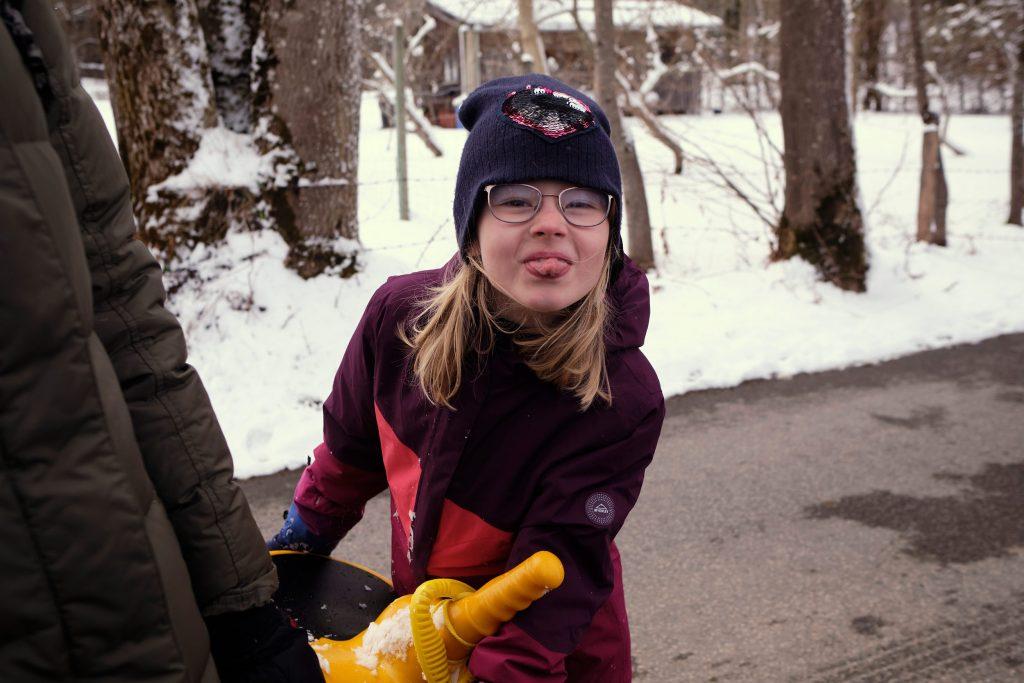 Bayern Neureuth Winter Schneewanderung Tegernsee Family
